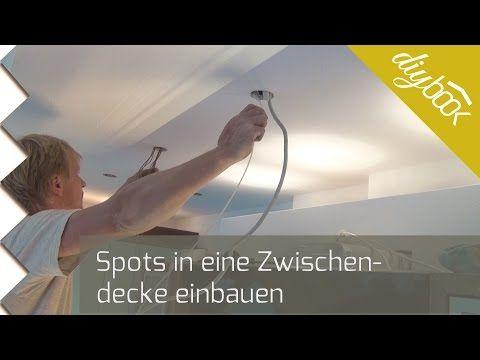 Spots einbauen - Deckenstrahler aus Halogen - Anleitung @ diybook.de