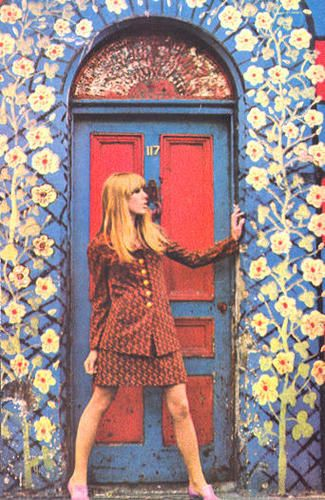 Jenny Boyd in Carnaby Street - photo Mlle Age Tendre
