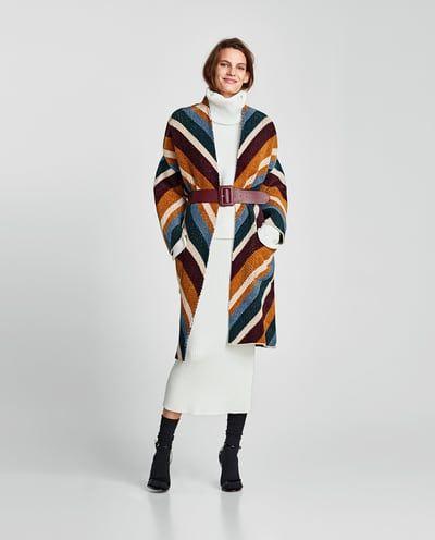 Semana Oversize Última México Abrigo Mujer All Zara Jacquard PSqwg8