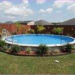 Landscaping Around Above Ground Pool design                                                                                                                                                      More