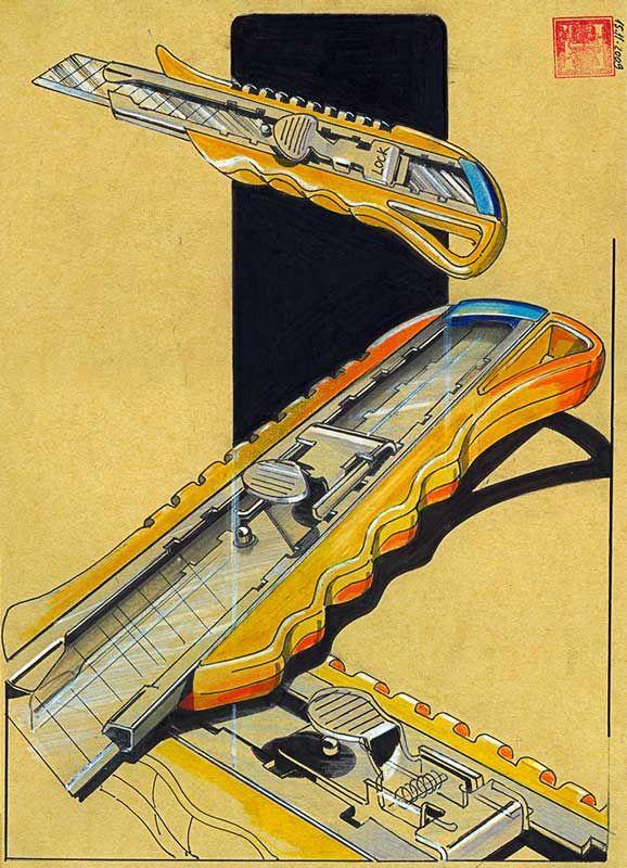 Old school renderings by Dr. Hakan Gürsu.  http://hakangursu.com/work/design-sketches/