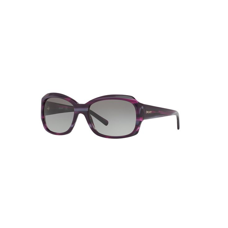Dkny Essentials DY4048 55mm Rectangle Sunglasses, Women's, Med Purple