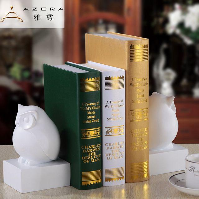 Bookends bonito animal da coruja jóias ornamentos Mobiliário de Casa decoração decoração de mesa suporte para livros livro de estudo