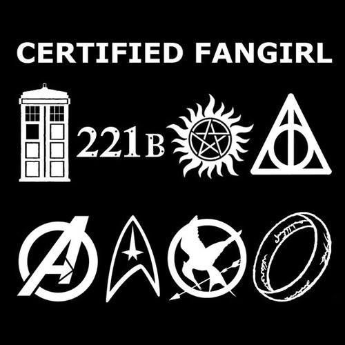 Doctor Who, Sherlock, Supernatural, Harry Potter, Avengers, Star Trek, Hunger Games (NOT in this fandom,) Lord of the Rings.