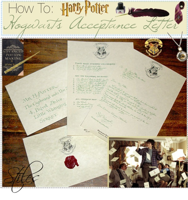 How To Make Your Own Harry Potter Hogwarts Acceptance