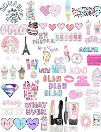 17 best images about collage tumblr on pinterest for Cool girly stuff