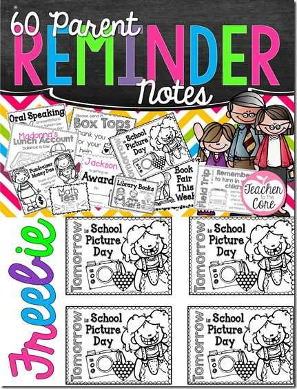 """Freebie! TONS of reminder notes for students!! ....Follow for """"too-neat-not-to-keep"""" fun & free teaching stuff :)"""