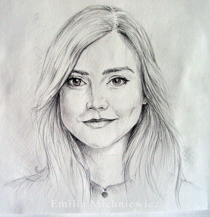 Clara Oswald - pencil drawing Doctor Who www.facebook.com/EMsilverART