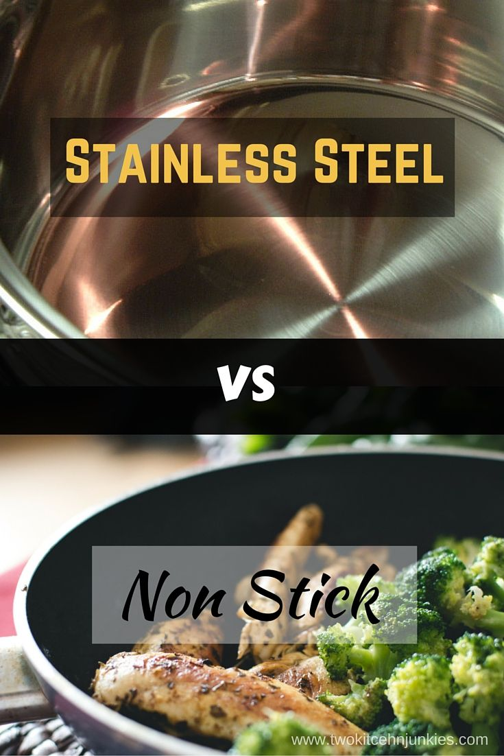Stainless Steel vs Nonstick: What choice would you make? : Figuring out what type of cookware you need can be complicated. In this article we look at Stainless Steel vs Nonstick to help you make the right choice.