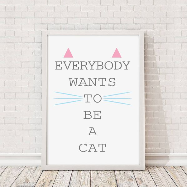 Everybody Wants To Be A Cat Aristocats Quote Print - Available from Vunk.co.uk