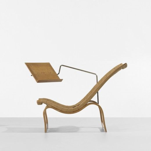 Bruno Mathsson Lounge Chair With Reading Stand Karl Mathsson Sweden, 1936  Laminated Steam Bent