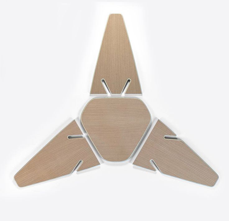 Year: 2012/2016 The design of the Wedge Table arose from the idea to create a three dimensional table and stool construction that is made from flat plywood parts. The three interlocking legs form a solid structure and define the table's characteristic visual appearance. Each part...