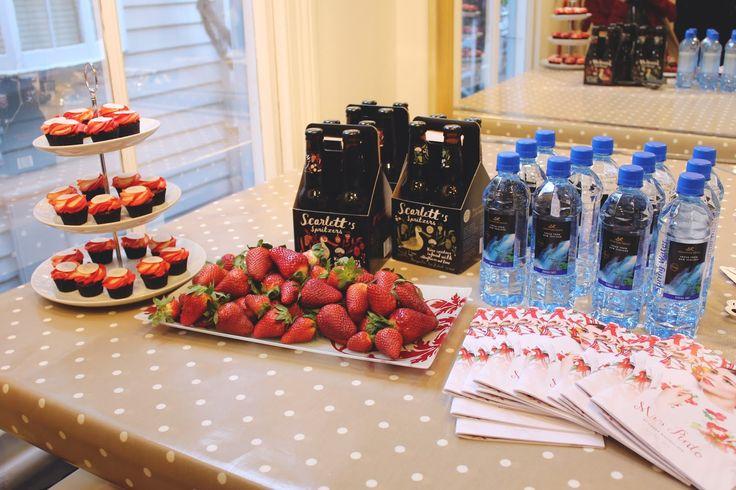 petal cupcakes strawberries