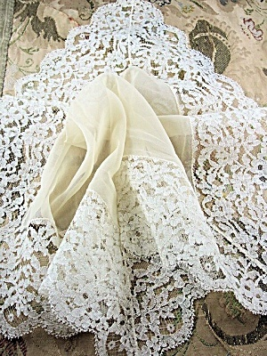 Antique French Lace Over Sized . Click on the image for more information.  (Image1)
