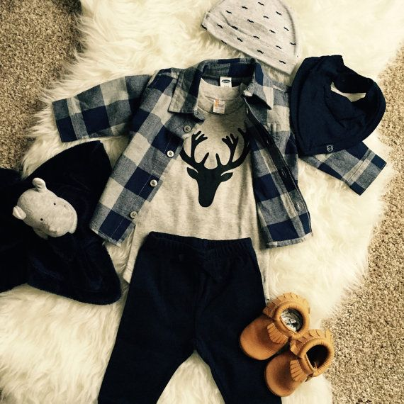 Deer Antler Baby Onesie. Baby Clothes. Toddler Tees or by ShopAria