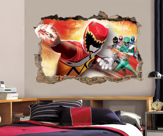 Power Rangers Dino Charge Smashed Wall Decal Graphic Wall Sticker H205. 1000  images about power Rangers bedroom on Pinterest