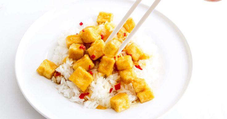 Mango chutneytofu med ris