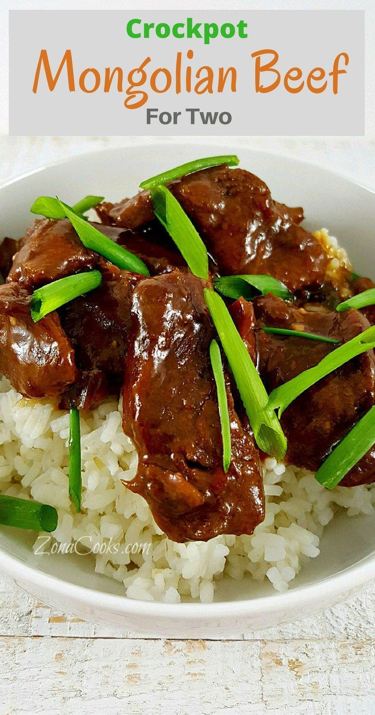Crockpot Mongolian Beef for Two - This is a quick and easy to prepare slow cooker recipe of Mongolian Beef dinner for two. The beef is incredibly tender and the sauce has an amazing savory and sweet flavor. You can adjust the heat by adding more or less r
