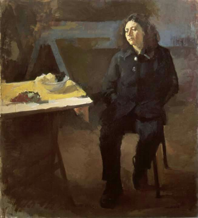 """Sophia's portrer"" by Nikos Christogorakis oil on camvas"