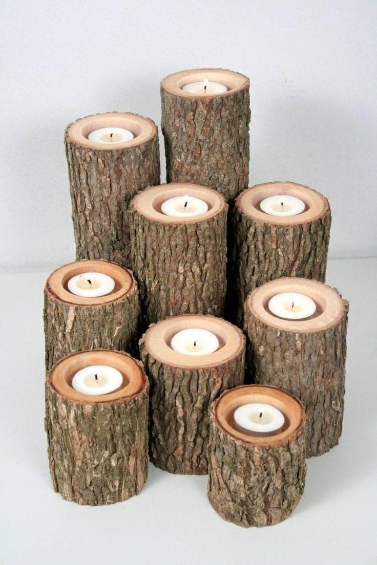 bricolage en bois pour l'automne : fabriquer un chandelier