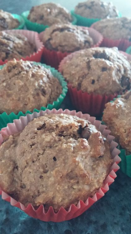 Healthy Double Choc Chip Muffins