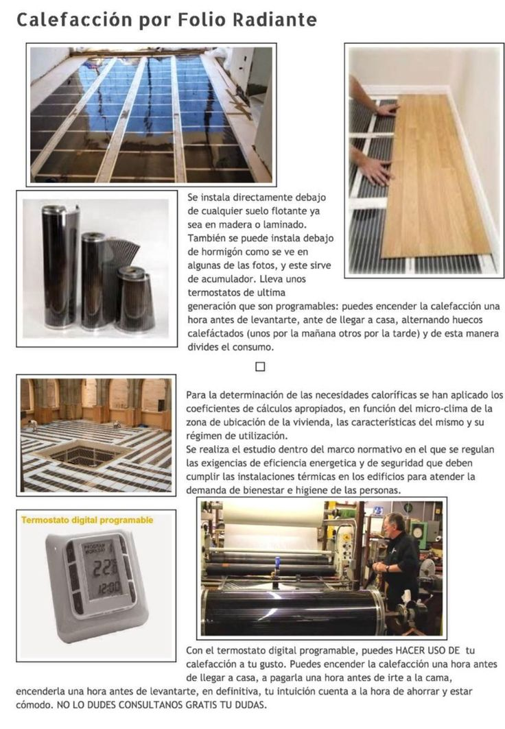 Madera para suelo radiante gallery of es compatible la instalacin de parquet sobre el suelo - Folio radiante electrico ...