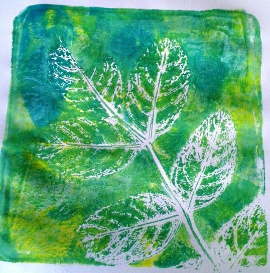 Think I am obsessed with leaves! @Gelli Arts®