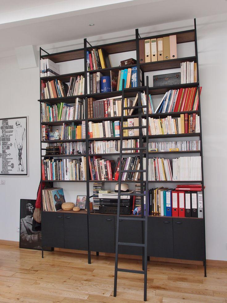 17 best ideas about biblioth que industrielle on pinterest. Black Bedroom Furniture Sets. Home Design Ideas