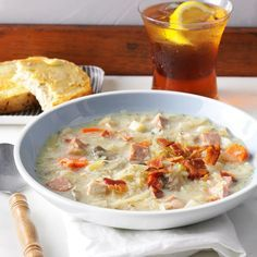 """Slow-Cooked Sauerkraut Soup Recipe -We live in Lancaster County, Pennsylvania, which has a rich heritage of German culture. Dishes that include sauerkraut, potatoes and sausage around here. We enjoy this recipe on cold winter evenings, along with muffins and fruit. The """"mmm's"""" start with the first whiff as the door opens after school or work."""