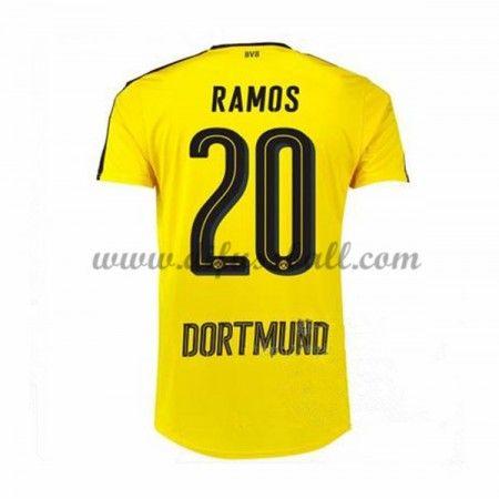 Neues BVB Borussia Dortmund 2016-17 Fussball Trikot Ramos 20 Kurzarm  Heimtrikot Shop