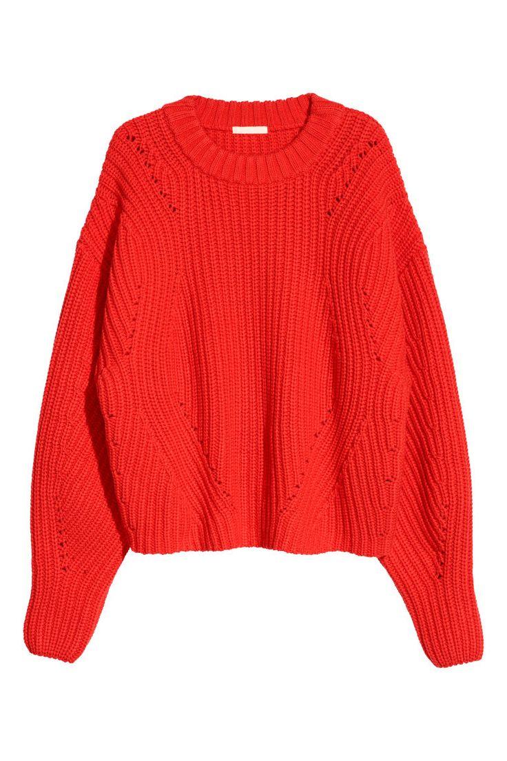 Camisola em malha - Vermelho vivo - SENHORA   H&M PT 2