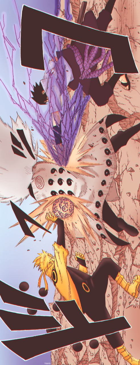Naruto and Sasuke attack Madara with new power which they got from Sage of the…