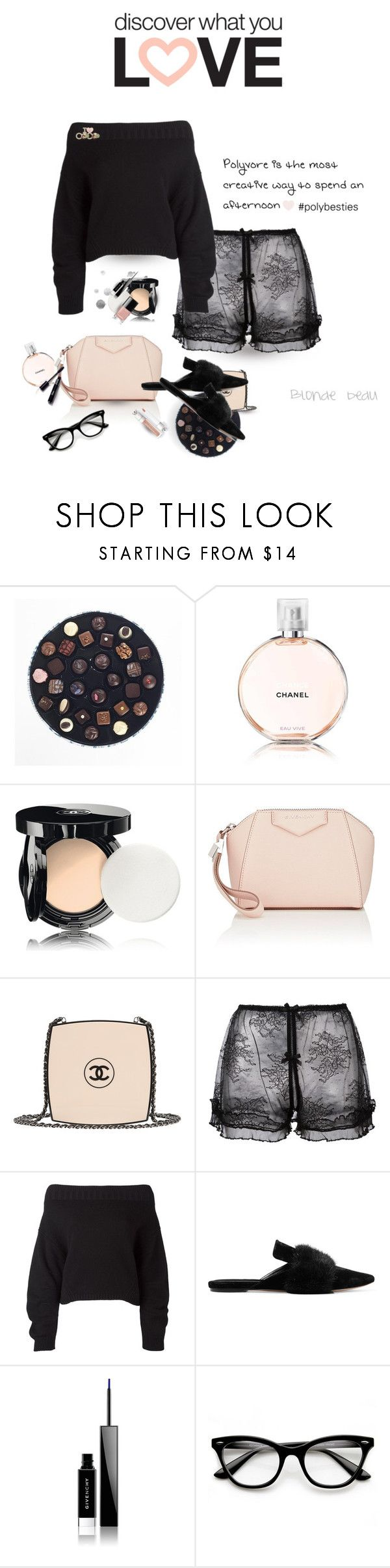 """""""Joy is contagious .. please read"""" by blonde-bedu ❤ liked on Polyvore featuring Chanel, Givenchy, FOLIES BY RENAUD, Opening Ceremony, Sanayi 313 and ZeroUV"""