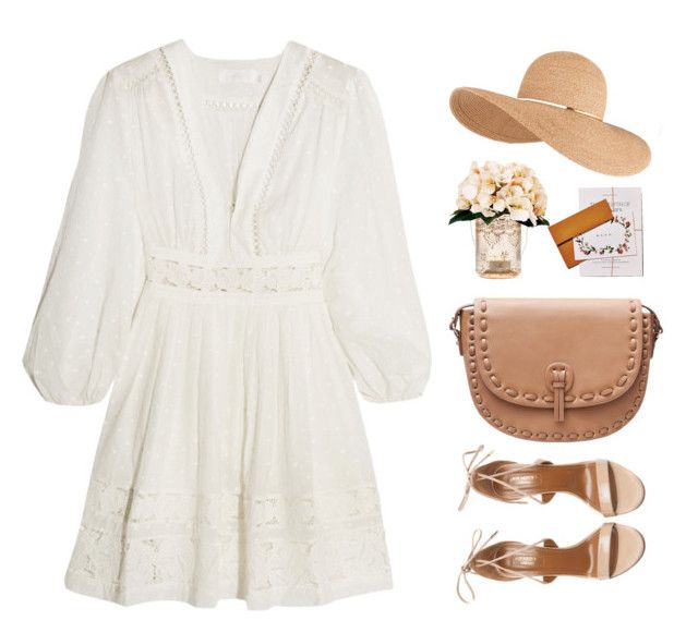 Barn Wedding by sweetpastelady on Polyvore featuring polyvore, fashion, style, Zimmermann, Aquazzura, MANGO, Eugenia Kim, Creative Displays, Cultural Intrigue and clothing