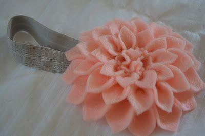 Sewing Barefoot: flower headband