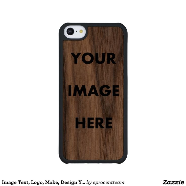 Image Text, Logo, Make, Design Your Own, Customize Carved® Walnut iPhone 5C Slim Case