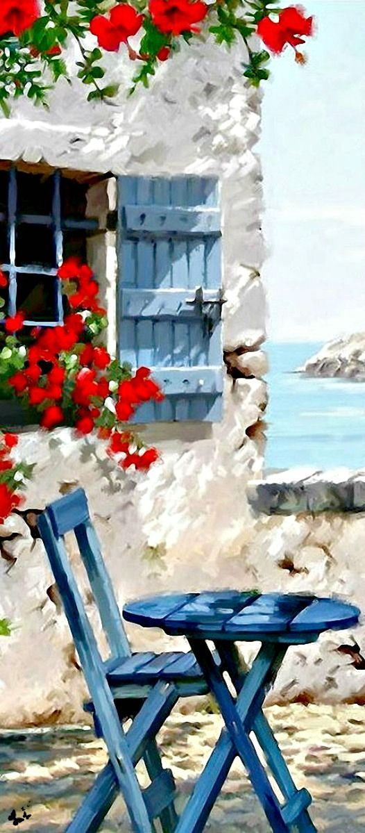 #Art #Buildings - Greece theres no more to say only perfect... http://www.ablankcanvas.net - Crafting For You