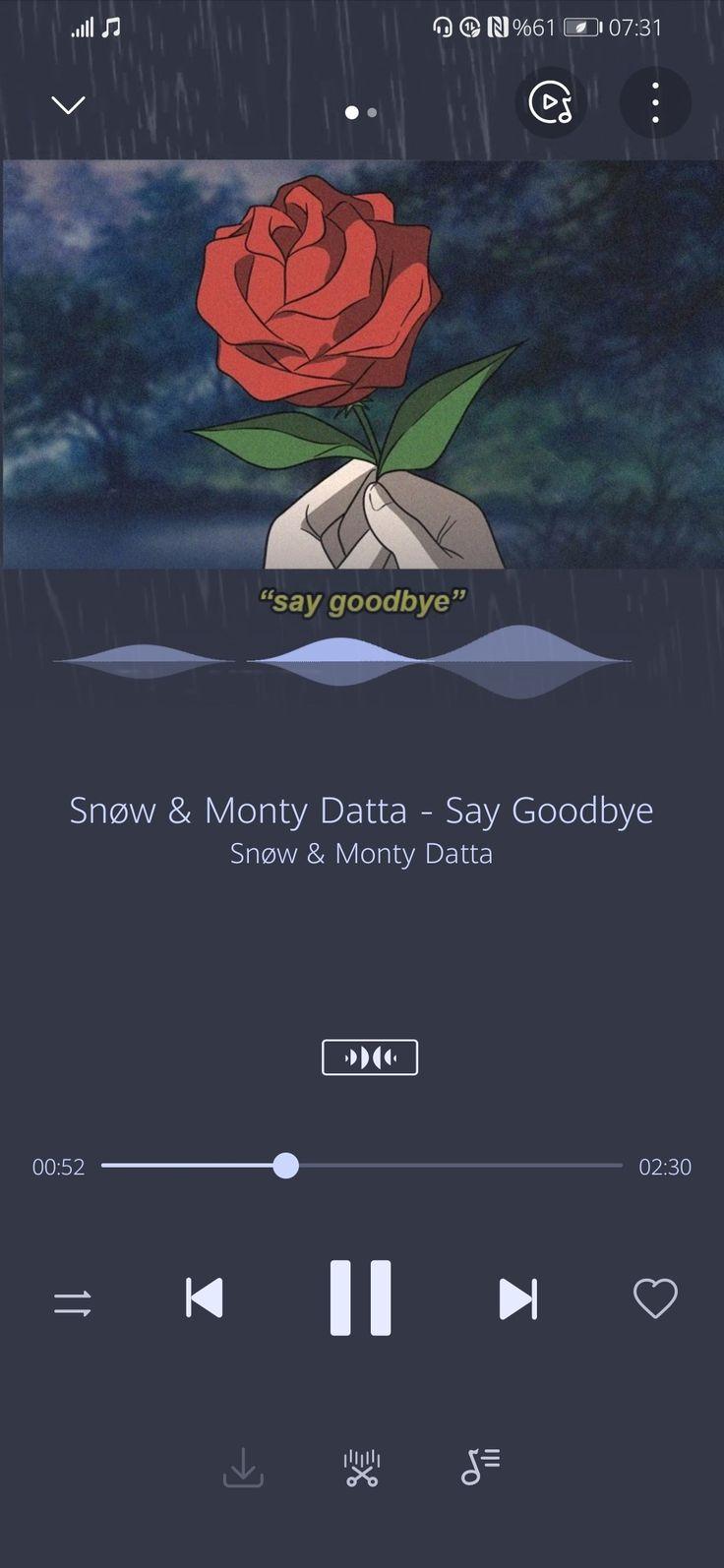 snow montydatta saygoodbye song wallpaper, 2020