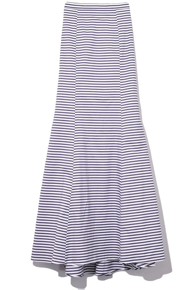 MDS Stripes Fishtail Skirt in Navy/White Stripe