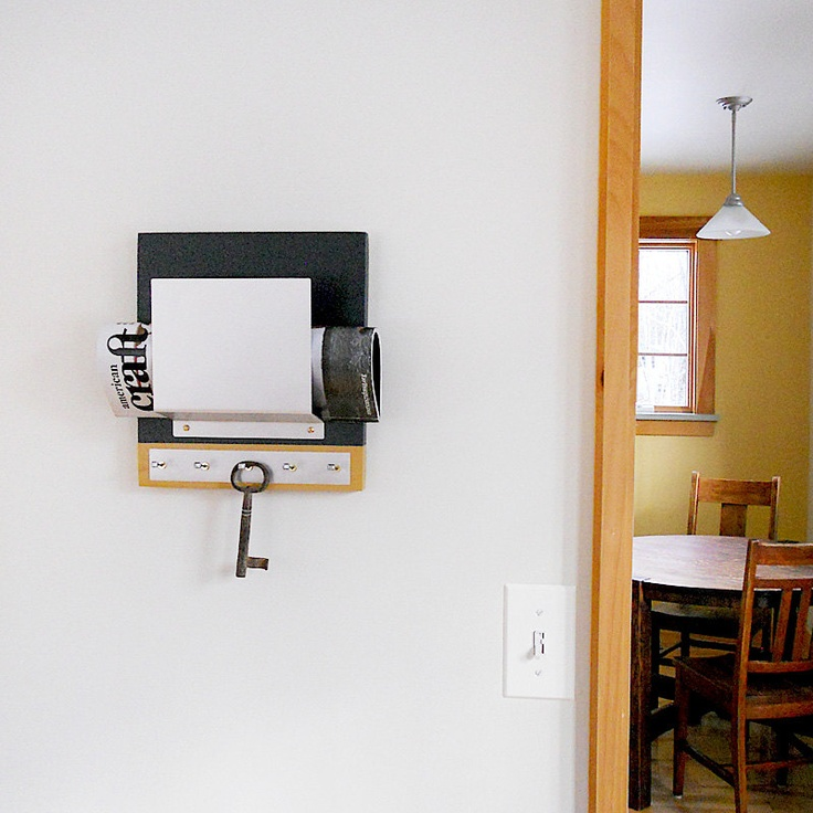 STEEL mail holder modern industrial wall mounted