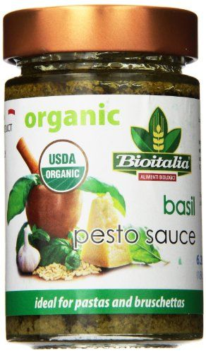 Bioitalia Ready Made Pesto Sauce, Basil, 6.35 Ounce - http://goodvibeorganics.com/bioitalia-ready-made-pesto-sauce-basil-6-35-ounce/