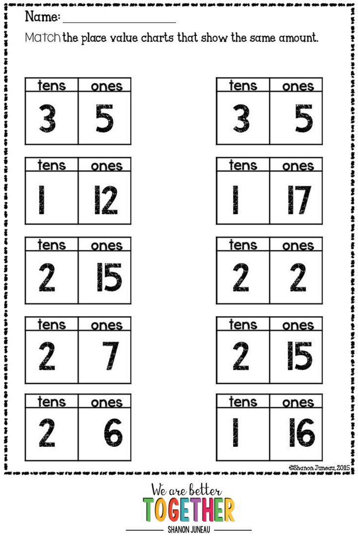1st Grade Worksheets in 2021   Math worksheets [ 1104 x 736 Pixel ]
