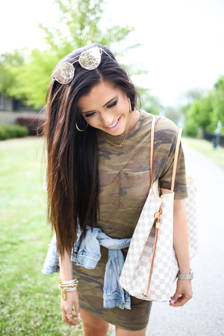 The Sweetest Thing: Casual Outfit: Camo T-Shirt Dress