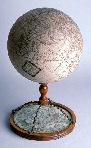 English globe by Joseph Moxon