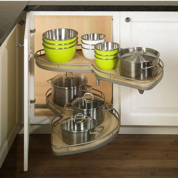 LeMans Kitchen Blind Corner Organizer for Full Height Door Cabinet by Hafele | KitchenSource.com