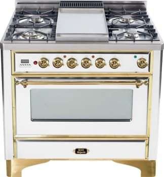 ilve dual fuel range with 6 sealed burners cu convection oven manual clean rotisserie warming drawer and oil rubbed bronze trim