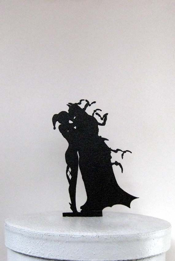 Wedding Cake Topper Batman & Harley Quinn by Plasticsmith on Etsy
