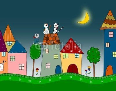 Colorful digital illustration for children by evarin20 on Etsy