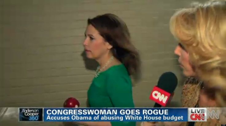 """Michele Bachmann tested CNN correspondent Dana Bash's speed on Tuesday when she tried to duck questions about some false claims she made during her recent speech to the CPAC conference. """"She literally raced away from our Dana Bash,"""" Anderson Cooper told viewers on his show."""