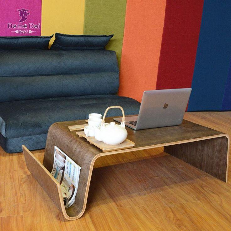 Metà del Secolo Design Moderno Tavolino Per La Prima Colazione, Magazine Mobili Soggiorno In Legno Curvato Lato End Tè Letto Tavolo Per Il Computer Portatile
